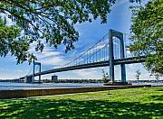 Landscapes Prints - Throgs Neck Bridge Print by June Marie Sobrito