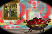 Gold Apples Framed Prints - Through A Modest Eye Framed Print by Lawrence Ott