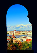 Budapest Photos - Through an arch in Budapest by Madeline Ellis