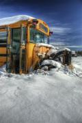 Rural School Bus Photos - Through and Through by Wayne Stadler