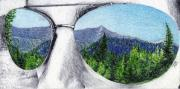Aviators Drawings - Through My Eyes by Nils Beasley