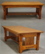 Coffee Table Sculptures - Through-tenon Coffee table by Dryad Studios