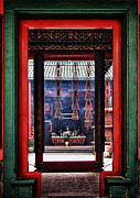 Incense Sticks Prints - Through the Chinese Doors Print by Zoe Ferrie