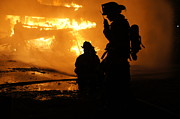 Fire Department Photos - Through the Flames by Benanne Stiens