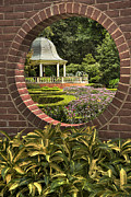 Gazebo Wall Art Prints - Through the Garden Wall Print by William Fields