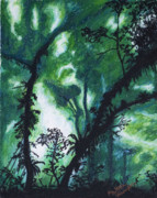 Tropical Pastels - Through the Green by Michael Williams