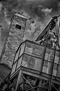 Feed Mill Photo Metal Prints - Through the Mill BW Metal Print by Ken Williams