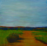 Abstract Realist Landscape Art - Through the Rolling Fields by Sandrine Pelissier