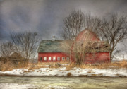 Old Barns Digital Art - Through the Roof by Lori Deiter