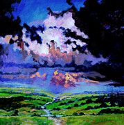 Storm Clouds Painting Originals - Through The Valley by John Lautermilch