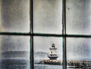 Wet Window Framed Prints - Through the Window Framed Print by Darren Fisher