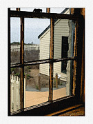 White Frame House Digital Art Prints - Through the Window Print by MaryJane Armstrong