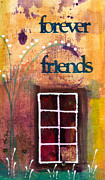 Spirals Mixed Media Posters - Through the Windowpanes of Friendship Poster by Angela L Walker