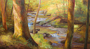 East Tennessee Paintings - Through the Woods by Jonathan Howe