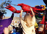 Crawfish Art - Throw Me Something by Jeanne  Woods