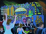 Mardi Gras Paintings - Throw Me Something Mister by Douglas Ann Slusher