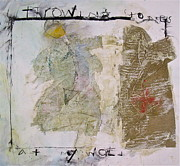 Board Mixed Media Originals - Throwing Stones at My World by Cliff Spohn