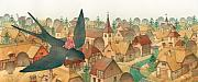 Town Drawings Originals - Thumbelina02 by Kestutis Kasparavicius
