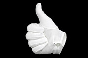 Isolated On Black Background Posters - Thumbs Up Poster by Richard Thomas