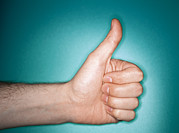 Thumbs Up Prints - Thumbs Up Sign Print by Lawrence Lawry
