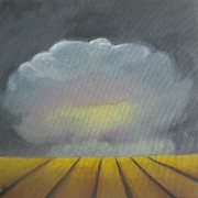 Thunder Paintings - Thunder above the wheat field by Vesna Antic