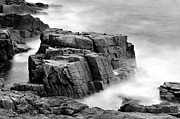 Sheer Acrylic Prints - Thunder along the Acadia coastline - No 1 Acrylic Print by Thomas Schoeller