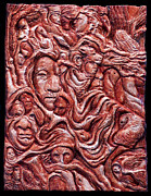 Figures Reliefs Prints - Thunder Print by Deanna Nash