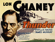 1929 Movies Framed Prints - Thunder, Lon Chaney, Sr., 1929 Framed Print by Everett