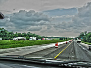 Hdr Look Photo Prints - Thunder Road Print by Alan Look