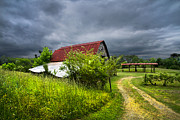 Tennessee Barn Prints - Thunder Road Print by Debra and Dave Vanderlaan