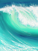 Surfing Art Paintings - Thunder Song by Colin Perini