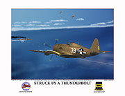 World War Two Photo Posters - Thunder Struck Poster by Jerry Taliaferro