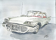 Classic Cars Originals - Thunderbird 1960 by Eva Ason