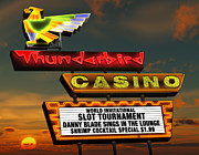 Signage Digital Art Framed Prints - Thunderbird Casino Framed Print by Anthony Ross