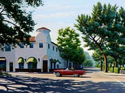 Classic Car Paintings - Thunderbird in Carmel by Frank Dalton