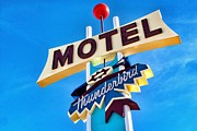 Matt Suess Prints - Thunderbird motel sign Print by Matt Suess