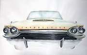 Sportscar Paintings - Thunderbird by Ruth Kamenev