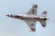 Airshows Photos - Thunderbird Topside by Bill Lindsay