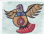 Thunderbird Totem Print by Tony  Nelson