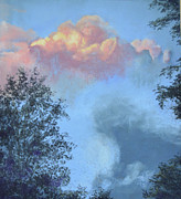 Thunder Pastels - Thunderhead at Sunset by Lori Bate