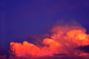 Thunderhead At Sunset Framed Prints - Thunderhead at Sunset Framed Print by Thomas R Fletcher