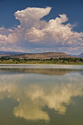 Thunderheads Art - Thunderhead Building up Over The CO Rocky Mountains by James Bo Insogna