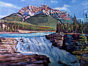 Rockies Paintings - Thundering River by David Lloyd Glover