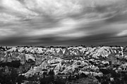 High Vantage Point Posters - Thunderous morning over Cappadocia Poster by Kantilal Patel