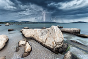 Sea Framed Prints - Thunderstorm  Framed Print by Evgeni Dinev