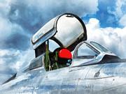 Thunderstreak Turbojet Cockpit Print by Susan Savad