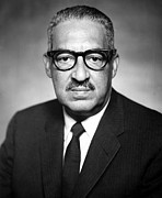 1960s Portraits Framed Prints - Thurgood Marshall 1908-1993 Pictured Framed Print by Everett