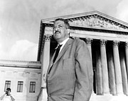 Supreme Court Framed Prints - Thurgood Marshall Framed Print by Granger
