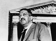 Naacp Framed Prints - Thurgood Marshall, Naacp Chief Counsel Framed Print by Everett