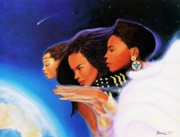 African American Women Paintings - Thy Will Be Done by Albert Fennell